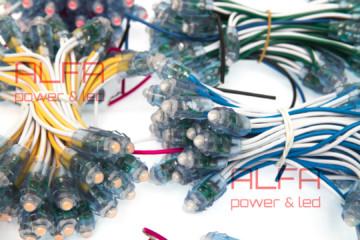 Светодиодный Пиксельный модуль APx-9-12v-W-R-G-B-Y
